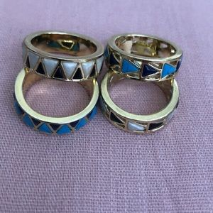House of Harlow stackable rings sz 7